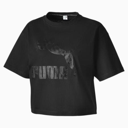 Summer Luxe Style Damen T-Shirt, Cotton Black, small