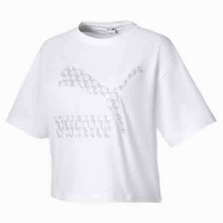 Summer Luxe Style Women's Tee, Puma White, small