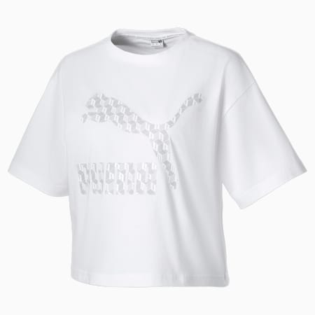Summer Luxe Style Women's Tee, Puma White, small-SEA