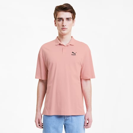 Classics Boxy Men's Polo Shirt, Bridal Rose, small