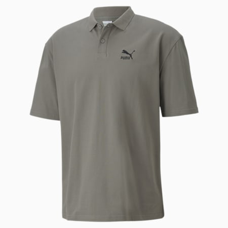 Classics Boxy Men's Polo Shirt, Ultra Gray, small-SEA