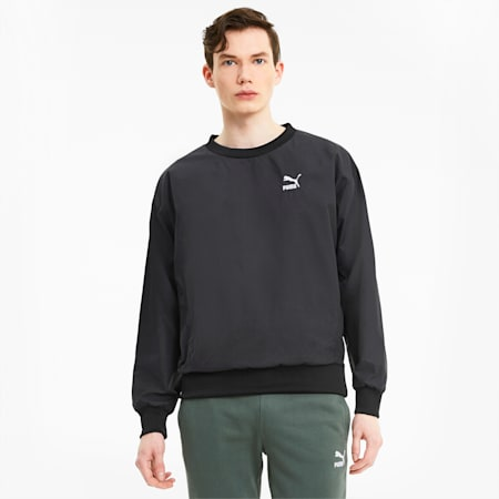 Classics Woven Men'sCrew Sweater, Puma Black, small