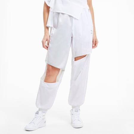 T7 2020 Fashion Women's Track Pants, Puma White, small