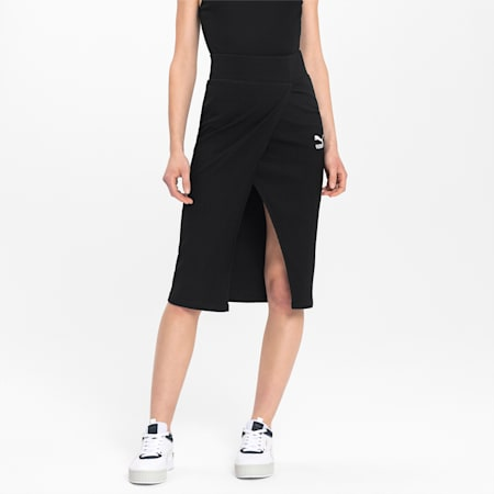 Empower Midi Saron Women's Skirt, Puma Black, small