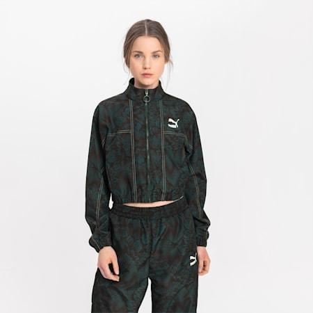 Track jacket da donna in morbido tessuto Empower, Green Gables, small