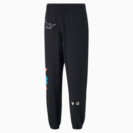 Pantaloni felpati PUMA x KIDSUPER uomo, Puma Black, small
