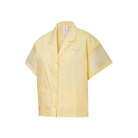 Camiseta PUMA x LIU WEN para mujer, Mellow Yellow, pequeño