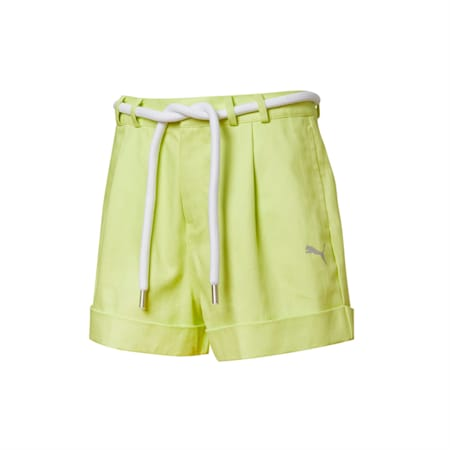 PUMA x LIU WEN Women's Shorts, Sunny Lime, small