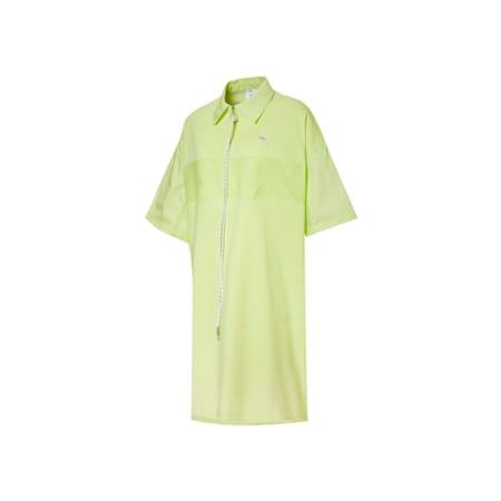 PUMA x LIU WEN Women's Polo Dress, Sunny Lime, small