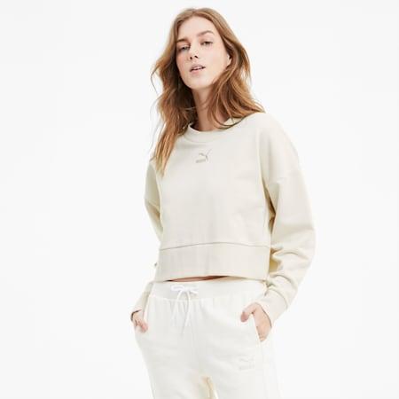 Bye Dye Classics Kurzes Damen Sweatshirt, no color, small