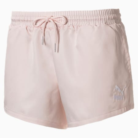 Summer Luxe Satin Women's Shorts, Rosewater, small
