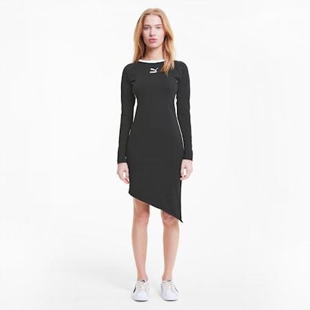 T7 2020 Fashion Women's Dress, Cotton Black, small