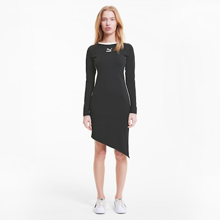 Vestido T7 2020 Fashion para mujer, Cotton Black, small