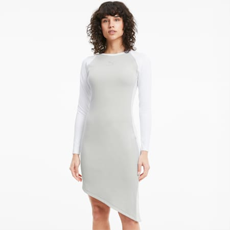 T7 2020 Fashion Women's Dress, Gray Violet, small