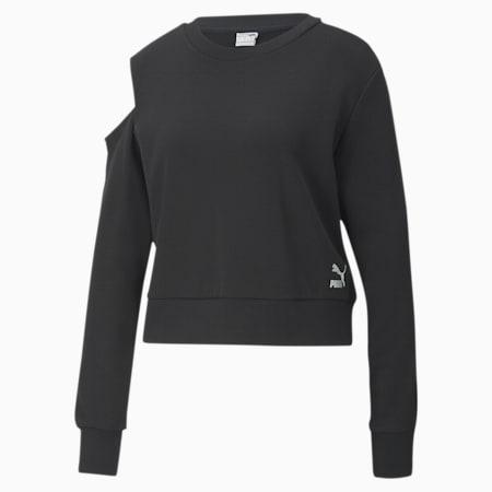 T7 2020 Fashion Crew Neck Women's Sweater, Cotton Black, small-SEA