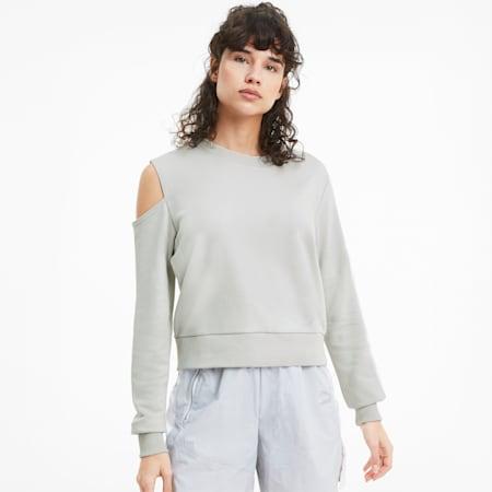 T7 2020 Fashion Crew Neck Women's Sweater, Gray Violet, small