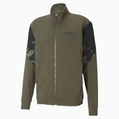 Rebel Camo Full-Zip Men's Jacket, Forest Night, small-IND