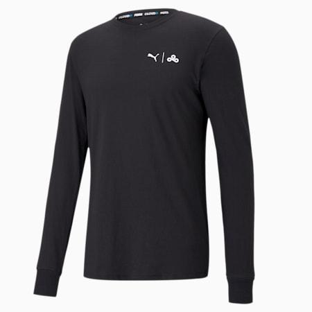 Camiseta de manga larga PUMA x CLOUD9 Level Up para hombre, Puma Black, pequeño