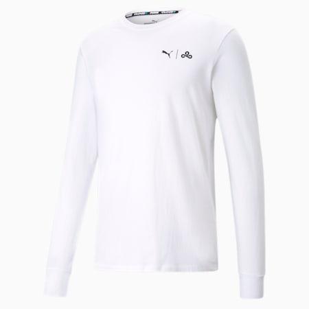 Camiseta de manga larga PUMA x CLOUD9 Level Up para hombre, Puma White, pequeño