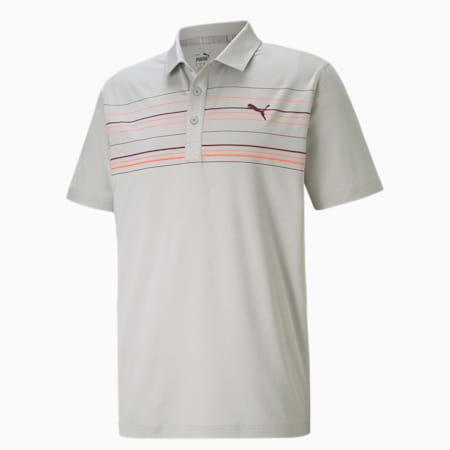 Camiseta tipo poloMATTR Hazard, High Rise Heather-Zinfandel, pequeño