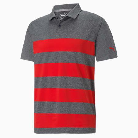 메터 키위 스트라이프 폴로/MATTR Kiwi Stripe Polo, Navy Blazer Heather-High Risk Red, small-KOR