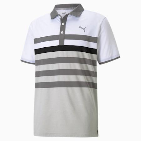 MATTR One Way Men's Golf Polo Shirt, QUIET SHADE-Puma Black, small