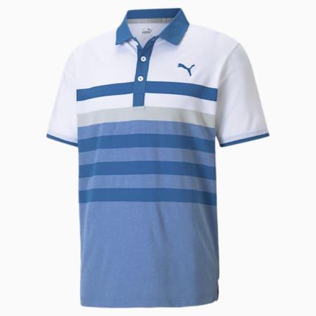 MATTR One Way Men's Golf Polo Shirt, Star Sapphire-High Rise, small