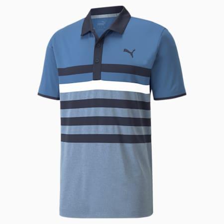 Polo de golf en piqué MATTR One Way homme, Federal Blue-Allure, small