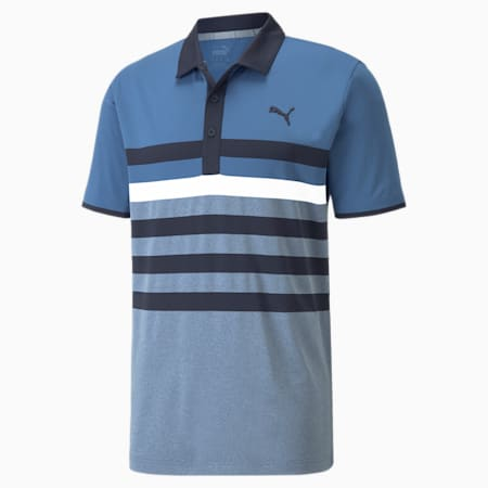 Polo da golf MATTR One Way uomo, Federal Blue-Allure, small