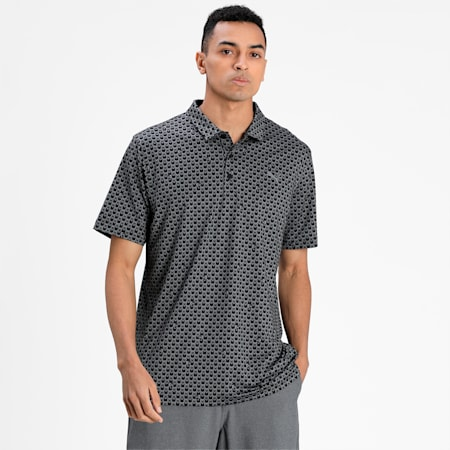 MATTR Roar Men's Golf Polo Shirt, Puma Black, small-IND