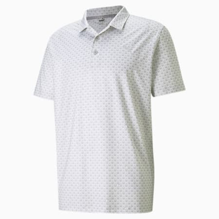 MATTR Roar Men's Golf Polo Shirt, Bright White, small-SEA