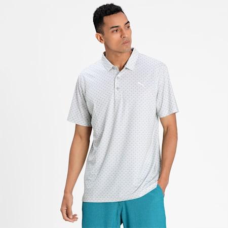 MATTR Roar Men's Golf Polo Shirt, Bright White, small-IND