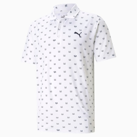 CLOUDSPUN Bandit Men's Golf Polo Shirt, Bright White, small-SEA