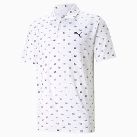 CLOUDSPUN Bandit golfpoloshirt heren, Bright White, small
