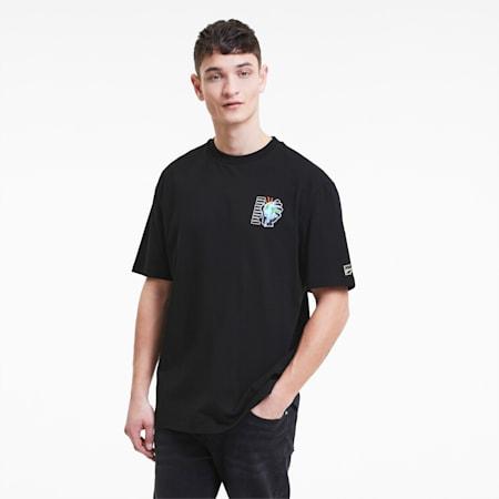 ダウンタウン DOWNTOWN グラフィック 半袖 Tシャツ, Puma Black, small-JPN