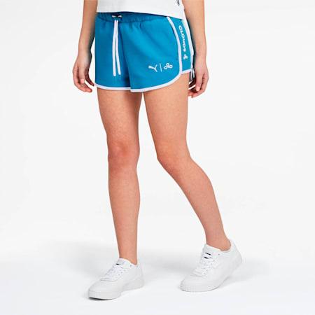 Shorts PUMA x CLOUD9 Glitch para mujer, Hawaiian Ocean, pequeño