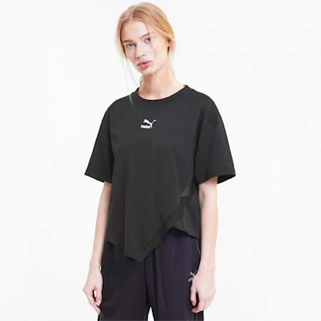 T7 2020 Fashion T-shirt voor dames, Cotton Black, small
