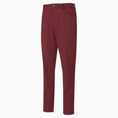 Jackpot 5-Pocket Men's Golf Pants, Zinfandel, small
