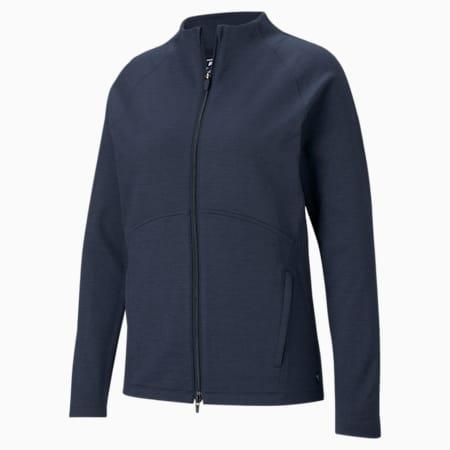 CLOUDSPUN Full-Zip Women's Golf Sweater, Navy Blazer Heather, small-GBR