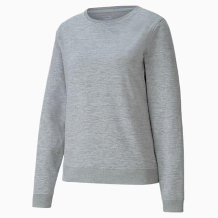 CLOUDSPUN Rundhalsgolfsweatshirt für Damen, Light Gray Heather, small