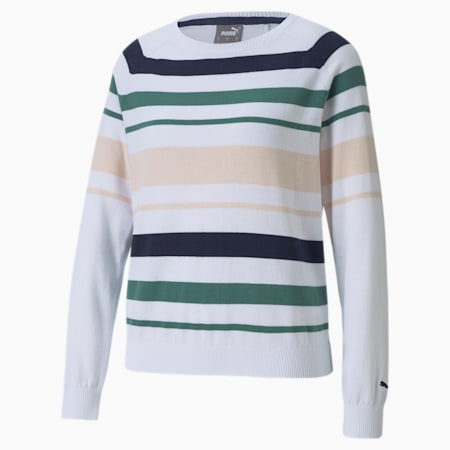 Damski sweter golfowy Ribbon, Blue Spruce-Cloud Pink, small