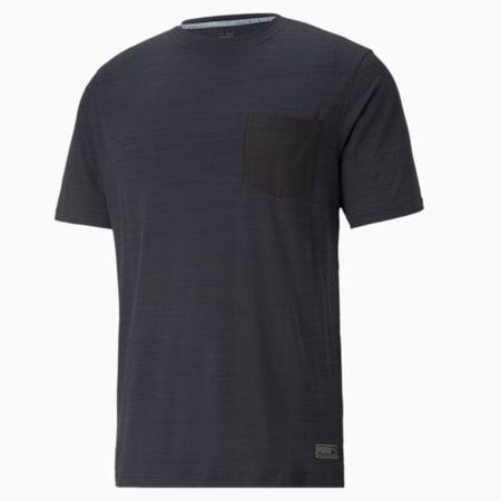 Camiseta de Golf EGW CLOUDSPUN Pushcart Pocket para hombre, Puma Black Heather, pequeño