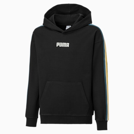 Tape Kids' Hoodie, Puma Black, small