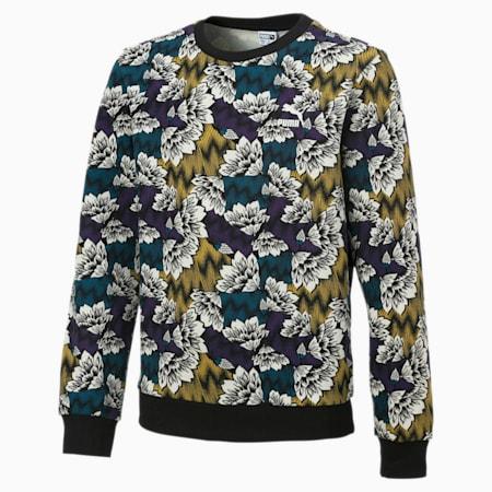 All-over Printed-sweater til børn, Moroccan Blue-Multicolor AOP, small