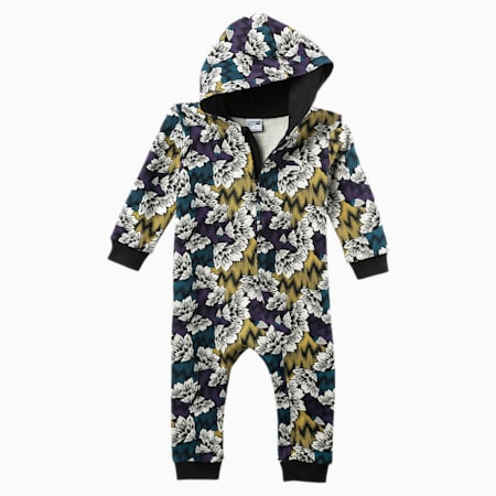 Allover-Print Babies Einteiliger Anzug, Moroccan Blue-Multicolor Aop, small