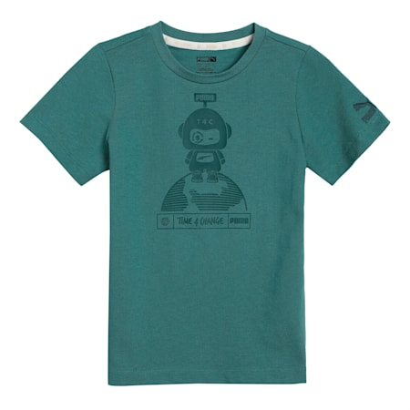 T4C Kids'  T-shirt, Blue Spruce, small-IND