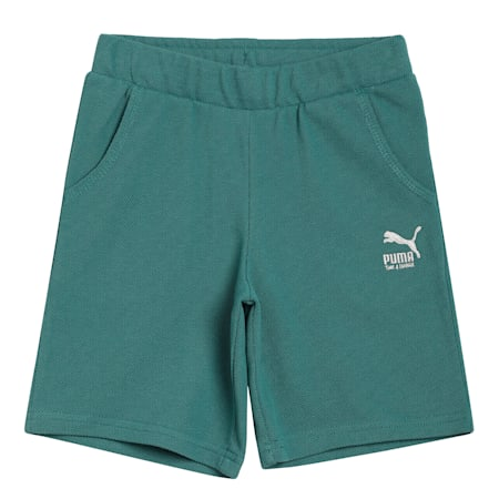 T4C Knitted Kids' Shorts, Blue Spruce, small-IND