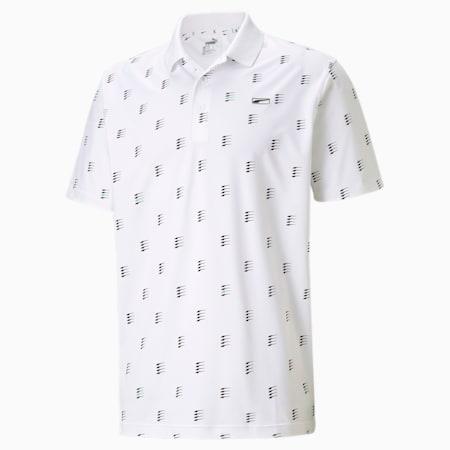 MATTR Moving Day Men's Golf Polo Shirt, Bright White, small-GBR