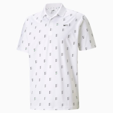 Polo de golf MATTR Moving Day pour homme, Bright White, small