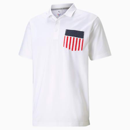 Camisesta de golf tipo polo MATTR Betsy Pocketpara hombre, Bright White, pequeño